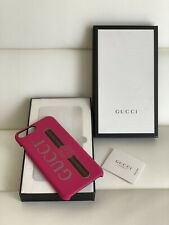 NEW Case Gucci IPhone 8 Plus Pink Leather GG