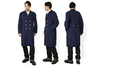 Vintage French Air Force Blue Wool Greatcoat coat army trench military overcoat
