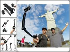 Adjustable Bracket Mono-pod 3-way GoPro Accessories Flexible Tripod Phone Holder