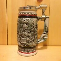 Vintage Collector TRIBUTE TO TRAINS Avon USA Lidded Beer Stein Gift MUG
