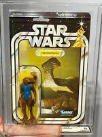 AFA 85 Kenner 1979 Star Wars Original 21-back-B Hammerhead (85-85-90) Clear NM+
