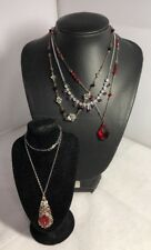 Vintage Lot of 4 1950s Costume Necklaces Glass Beads Retro