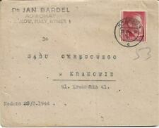 GERMANY GENERAL GOVERNMENT 24pf ON Kraków CANCELLED TYPED COVER REF 189