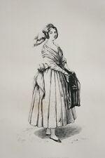 LA BORDELAISE FEROGIO GRAVURE 1842 PRINT (R397)