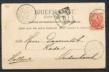 SABANG 21.11.1905(S.S. Sabangbai)POSTAGENT AMSTERDAM-BATAVIA - OUDENBOSCH  Ho638