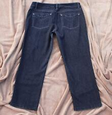 White House Black Market Jeans 8 Black Denim FEEL BEAUTIFUL Cropped Leg Capri