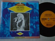 """TAMMY WYNETTE - STAND BY YOUR MAN / DIVORCE - OLD GOLD 7"""" SINGLE -"""