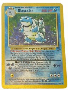 Blastoise - Base Set 2, Holographic Pokemon Card #2/130 Rare Played
