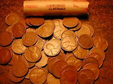 Lincoln Wheat Cent Penny Roll Mixed 30'S All Mintmarked! D&S Mints Only