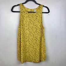Old Navy Yellow Mustard Floral Tank Size Large