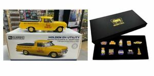 HOLDEN EH UTILITY GOLDEN FLEECE 1:18 SCALE MODEL CAR + SET 10 BOXED PIN SET