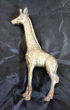 Vintage Brass Giraffe Figurine Statue intricate design