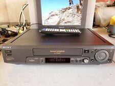 VIDEOREGISTRATORE VHS SONY SLV-SX80 6TESTINE HI-FI EX DEMO NEGOZIO + TELECOMANDO