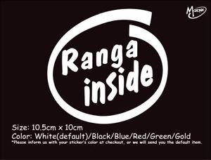 RANGA INSIDE Reflective Funny Car Truck Boat Sticker Best Gift-