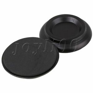 105x105x24MM Solid Wood Clear Piano Caster Cups Black Musical Parts Set of 4