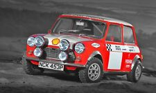 Classic Mini Cooper S - HUGE 50x30 Inch Canvas Rally Art - Framed Picture Print