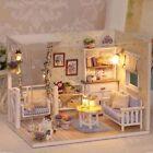 DIY 3D Dollhouse Paper Miniature Furniture Kit LED Light Kids Grils X-mas Gift