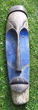 Große Afrikanische Deko Blaue Maske 140 cm hoch
