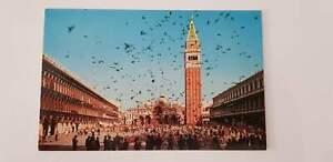 Vintage Postcard Venice Place St Marc Vol de Pigeons
