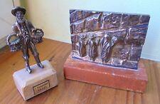 2 objet argent siver 925  judaique juif  israel, mur des lamentations,personnage