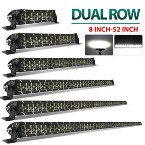 6D Dual Row Led Work Light Bar Combo Beam For Driving 4x4WD Offroad SUV ATV Boat