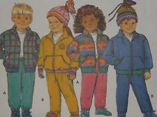 Butterick 3045 Sewing Pattern Children's Polar Fleece Jacket Pants Hat Sz 5 6 6x
