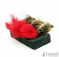 3x, 6x or 12x Red Tag Wet Flies for Trout Fly Fishing