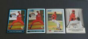 Aroldis Chapman Rookie Card Lot (4)