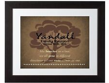 Personalized Family Tree Roots Wall art Print Poster wedding gift reunion brown