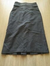 Cue Cotton Blend Straight, Pencil Solid Skirts for Women