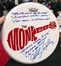"MICKY DOLENZ DIRECT! 14"" DRUM HEAD SIGNED WITH 6 MONKEES SONG TITLES! MUST SEE"