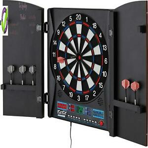 Fat Cat Electronx Electronic Dartboard, Built In Cabinet, Solo Play With Cyber P