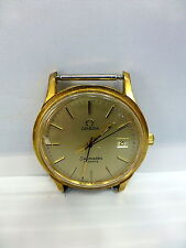 Vtg Omega Seamaster Swiss Made Quartz Men's Watch 1342 Cal Sold As Is