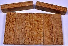 knife Block Scales BIRDSEYE MAPLE Pistol Grip 5 x 1 ½ Wood Best Grade AAAAA