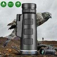 40X60 Zoom High Power HD Vision Monocular Telescope Optical for Camping Hunting