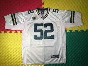 New Clay Matthews Green Bay Packers Reebok OnField White Jersey Youth Size Lrg