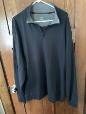 Cabelas Long Sleeve 1/4 Zip Sweatshirt Black 2XL