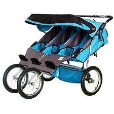 BebeLove 475 EVO-TS Triple Baby Jogging Stroller Aqua ( Blue)