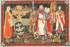 "KING ARTHUR TAPESTRY WALL HANGING 38"" X 56"" 96CM X 142CM, LINED WITH ROD SLEEVE"