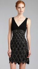 SUE WONG 1920's Gatsby Black Beaded Embellished Evening Cocktail Dress 10