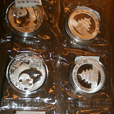 2002 1 OZ. SILVER PANDA IN CAPSULE &THICK PLASTIC/ COA TAG FROM CHINA MINT