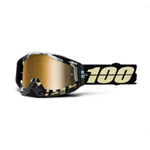 100% Racecraft Goggles Ergoflash / True Gold Mirror Lens