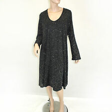 NEW Karen Kane Plus Size Sparkle Beaded Little Black Dress 1X Made in USA