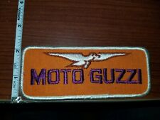 "MOTO GUZZI  2"" X 5"" VINTAGE MOTORCYCLE PATCH VIRGIN SEW ON PATCH UNUSED"