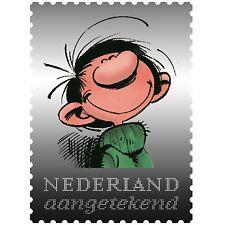 Zilveren Postzegel Guust Flater , uiterst zeldzaam, slechts 2.000 ex. PROOF !