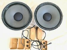 Vintage Pair TANNOY GOLD Monitor 15 inch with cossover WORKING CONDITION