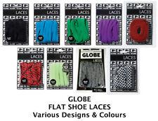 GLOBE FLAT SHOE LACES - Various Colours & Designs