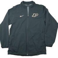 Nike Men's Medium Gray Purdue Boilermakers Vented Windbreaker Golf Jacket
