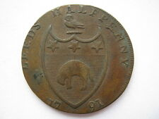 Yorkshire, Leeds Halfpenny Token 1791, VF, DH52.