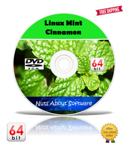Linux Mint 64bit O/S DVD 2020 Live or Full Install use on any Computer PC